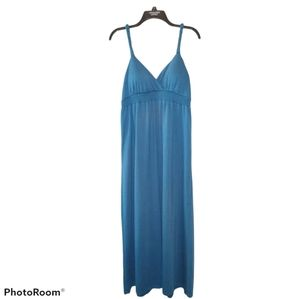 Maxi Dress Teal Blue Size Large by No Boundaries